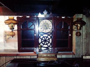 Antique clock with cabinet shelves and lights for Sale in Chicago, IL