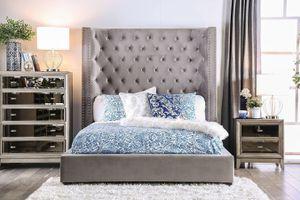 Gray Velvet Bed Frame for Sale in York, PA