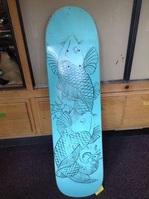 Custom koi fish skateboard deck for Sale in San Bernardino, CA
