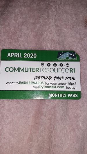 April 2020 bus pass for Sale in Johnston, RI