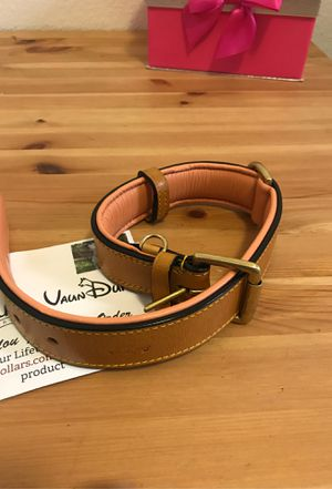 Premium Leather Dog Collar tan/salmon for Sale in Woodbridge, VA
