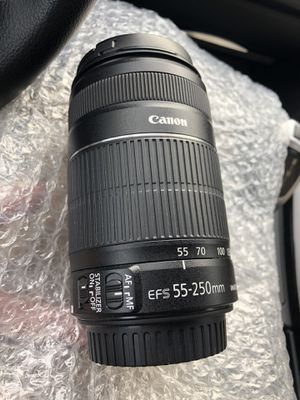 Canon lens 55-250mm for Sale in Denver, CO