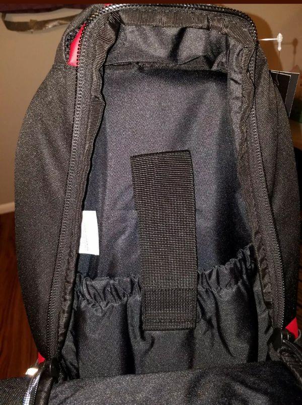 Nike Jordan Jumpman 9A1640-681 Laptop bag Basketball Backpack Gym Red/Black
