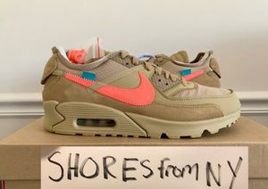 """OFF-WHITE x Nike """"The Ten"""" Air Max 90 Desert Ore *Men's Size 8.5 for Sale in Bronx, NY"""