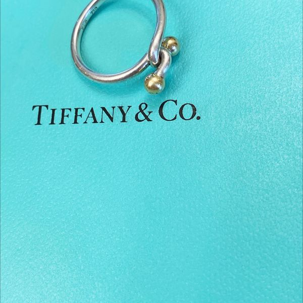 RARE TIFFANY & CO SILVER GOLD RING