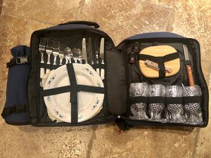 Picnic Backpack for 4 Persons With Insulated Cooler for Sale in Scottsdale, AZ