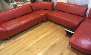 Red Leather 4-Piece Sectional Couch/Sofa for Sale in Centreville, VA