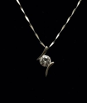 Beautiful 925 Silver Necklace with Zirkon Silver Pendant for Sale in West New York, NJ