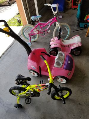 Girl's bikes, push mobile & electric scooter for Sale in Riverview, FL