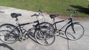 """2 Raleigh SC30 Sport Comfort 21 speed bikes with new 26"""" hybrid tires, 17"""" frames. for Sale in Wesley Chapel, FL"""
