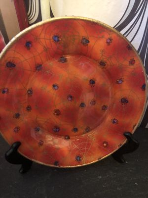 Halloween spider web plate for Sale in San Diego, CA