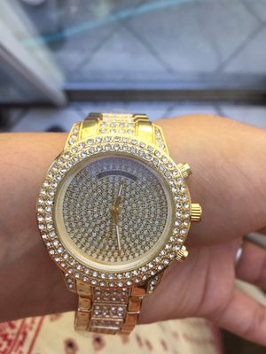 Mk Michael kors gold tone crystal watch for Sale in Silver Spring, MD