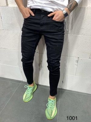 Men's black skinny designer jeans made in turkey sizes 30 waist up to 36 waist available for Sale in Los Angeles, CA