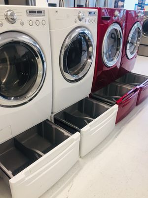 🔥🔥white LG washer and electric dryer set in excellent condition 90 days warranty 🔥🔥 for Sale in Woodstock, MD