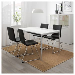 Dining Table, Chrome Plated Glass Tabletop, Sits 4 for Sale in San Jose, CA