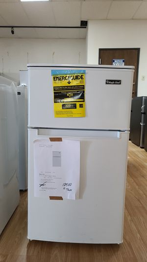 Magic chef 3.1 cu ft mini Refrigerator with Dual Door true freezer in white 3 available for Sale in Grand Prairie, TX