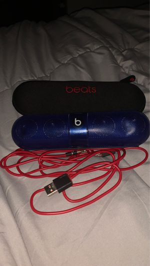 Blue beats pill BARELY USED w case and cable for Sale in Walnut, CA