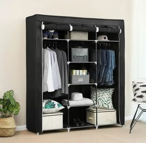 Portable Closet Clothes Shelves PORTABLE Dark Brown Black Gray New for Sale in Los Angeles, CA