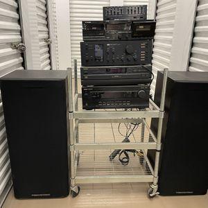 Cerwin Vega LS-12 Sentrek Sansui Old School Vintage Stereo Equipment with Stand Subwoofer Floor Speakers for Sale in San Diego, CA