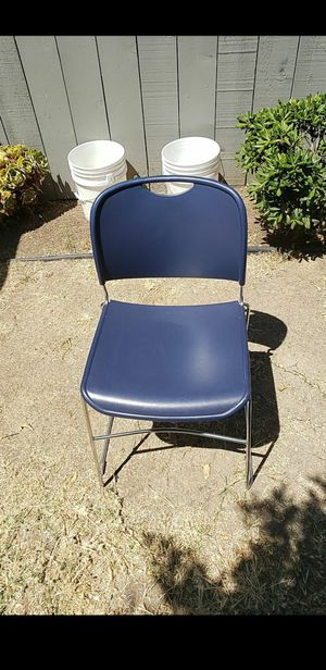 CHAIRS BLUE STACKABLE $10.00 EACH for Sale in San Diego, CA
