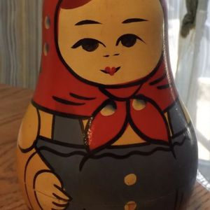 """Vintage Russian Wooden Roly Poly Doll 6 1/8"""" for Sale in San Diego, CA"""