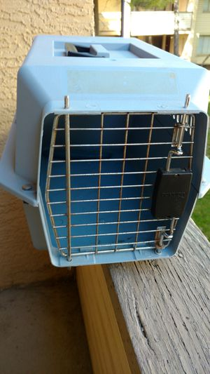 Small blue 19 x 12 x 11 in dog carrier kennel crate for Sale in Columbus, OH