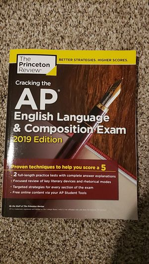 AP English Language & Composition Exam 2019 edition exam prep book for Sale in Clovis, CA
