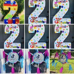 Piñatas Coco Melon Masha Y Em Oso Pulpo Bella Toy StoryJack Bambi Power Rangers Peppa Pig Lol Surprise for Sale in Chandler, AZ