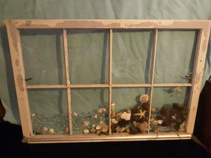 Ocean themed window (great for DIYer's) $10 OBO for Sale in Lewiston, ME