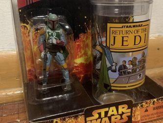 Star Wars Boba Fett Figure And Cup for Sale in Des Plaines,  IL