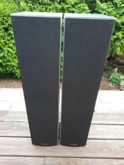 Polk audio speakers M20 Floor Speakers black for Sale in Washington,  DC