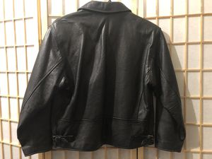 Georgetown Leather Design Pebbled Leather Zip-Front Pockets Jacket Size XS for Sale in Woodbine, MD