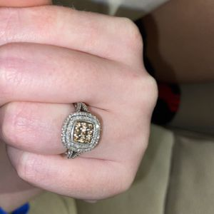 Real diamond ring - Champagne diamonds for Sale in Fort Lauderdale, FL