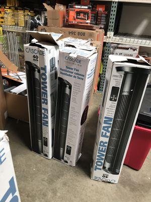 """Cascade TF40-18 40"""" 4-Speed Tower Oscillation Fan - Black for Sale in Rosemead, CA"""