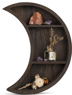 Wooden Wall Mounted Moon Shelf Floating Shelves for Sale in Los Angeles,  CA