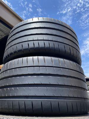 Two 95%-99% Tread Michelin 295/30/20 Pilot Sport 4S 295/30R20 Used 295/30ZR20 Tires 295 30 20 for Sale in Santa Ana, CA