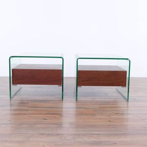 Pair of Zuo Modern Shaman Side Tables In Walnut (1030883) for Sale in South San Francisco, CA