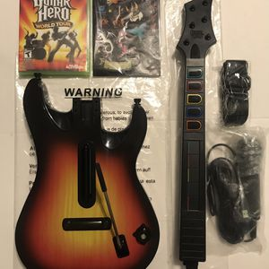 Xbox 360 Guitar Hero World Tour Complete Guitar & More for Sale in Los Angeles, CA