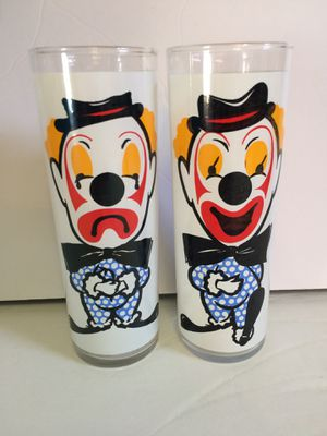 Collectible clown glasses for Sale in West Jordan, UT
