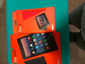 New never been opened Amazon fire HD 8 16GB tablet and Amazon fire 7 case. for Sale in Thornton, CO