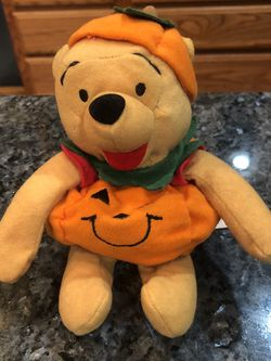 Vintage Disney Mini Bean Bag Collectible Winnie The Pooh Pumpkin . Brand New Size 7 inches for Sale in Artesia,  CA
