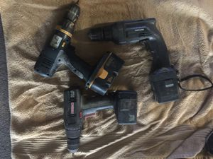 3drills 2craftsman and 1 Ryioby all have battery but needs charger all $15 for Sale in Austin, TX