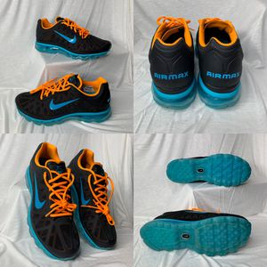 NIKE AIR MAX 2011 N7 RETRO RARE BLACK TURQUOISE ORANGE MENS SIZE 11 RUNNING SHOES for Sale in Euless, TX