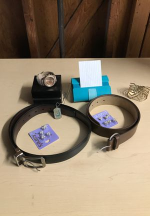 Watch, earrings, belt, necklace, bracelet, and card holder for Sale in Escondido, CA