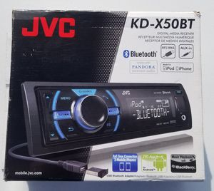 JVC KD-X50BT Ipod and Android Digital Media Bluetooth Car Stereo Audio Receiver- 2 USB PORTS, REMOTE, MIC, PANDORA READY for Sale in Benson, AZ