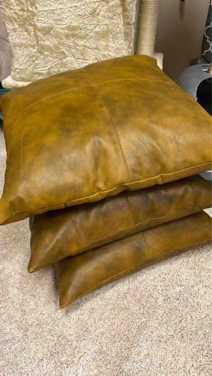 Leather pillows for Sale in Salt Lake City, UT