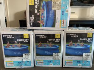 Summer Waves 10FT x 30IN Quick Set Pool with Pump for Sale in Washington, DC