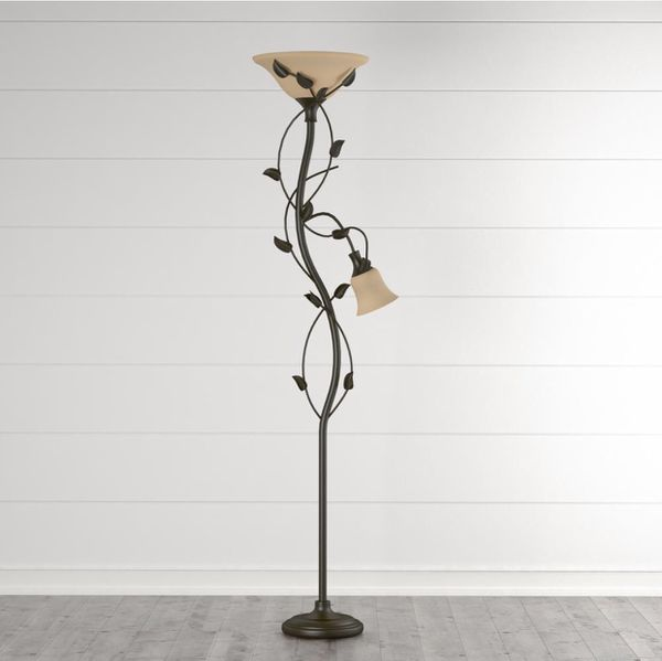 Ashlen 72in. Oil-Rubbed Bronze Mother and Son Torchiere