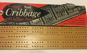 Cardinal's Wood Cribbage 2 Player Board Game Vintage for Sale in Worcester, MA