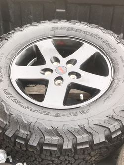 Brand new jeep wheel tire not for sale just the wheel for Sale in Albemarle,  NC